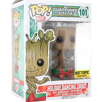 Funko Marvel Guardians Of The Galaxy Pop! Holiday Dancing Groot Vinyl Bobble-Head Hot Topic Exclusive