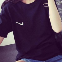 Nike Tommy men and women classic tee shirt T-shirt Black