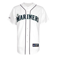 MLB Youth Seattle Mariners Chone Figgins White Home Short Sleeve 6 Button Synthetic Replica Baseball Jersey Spring 2011  (White, Large)