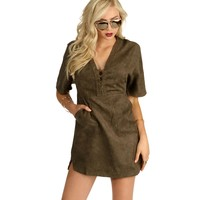 Olive On The Run Lace Up Tunic