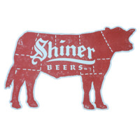 Shiner Meat Die-cut Sign