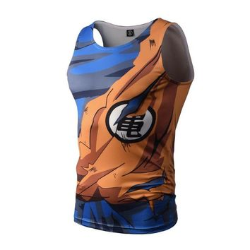 Bodybuilding Armour Dragon Ball Tank Tops super sayyian