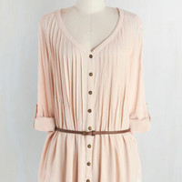 Boho Long 3 Shirt and Sweet Tunic in Buttercream by ModCloth