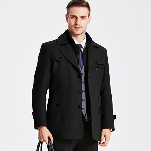 Image of Men's Wool Coats Jackets Thick Warm Outwear