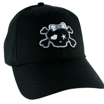 Punk Rock Skull Rockabilly Hat Baseball Cap Alternative Clothing Crossbones Emo