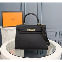HERMES WOMEN'S LEATHER KELLY HANDBAG INCLINED SHOULDER BAG