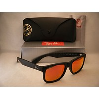 Cheap Ray Ban 4165 Justin Rubber Black w Orange Mirror Flash Lens (RB4165 622/6Q 51) outlet