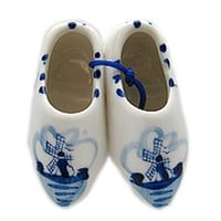 Delft Blue Clogs Kitchen Magnet