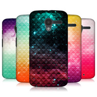 HEAD CASE PRINTED STUDDED OMBRE PROTECTIVE BACK CASE COVER FOR MOTOROLA MOTO X