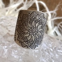 Mandala Etched Ring