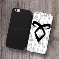 mortal instrument logo Wallet Leather Case for iPhone 4s 5s 5C SE 6S Plus Case, Samsung S3 S4 S5 S6 S7 Edge Note 3 4 5 Cases