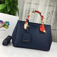prada women leather shoulder bags satchel tote bag handbag shopping leather tote crossbody 207