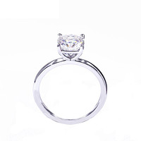 Round Diamond Veneer Cubic Zirconia Sterling silver Solitaire Ring. 635R208A