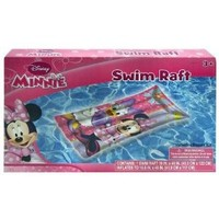 """Inflatable Raft - Disney - Minnie Mouse (19"""" x 48) (Swimming Toys)"""