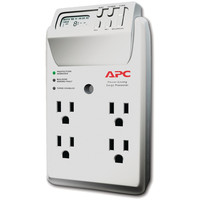 Apc 4-outlet Energy-saving Surge Protector Wall Tap With Lcd Timer