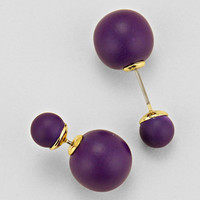 Purple Double Sided Earrings