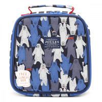 Joules Black Multi Bear Camo Munch Bag