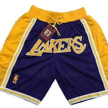 Nike Los Angeles Lakers Throwback Basketball Short Purple