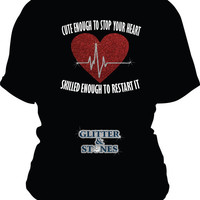 Cute Enough to Stop your Heart NURSE Hoodie
