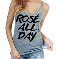 Rose all day Made In America Women racerback tank top made in usa
