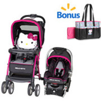 Baby, Infant Stroller Travel System and Diaper Bag Baby Bundle Set - Hello Kitty
