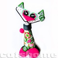 ROMANTIC CATS - romantic millefiori cat sculpture by catshome