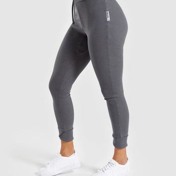 Gymshark Slounge Ribbon Bottoms - Charcoal Marl