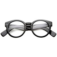 Vintage Hipster Indie Key Hole Round Clear Lens Glasses 9644
