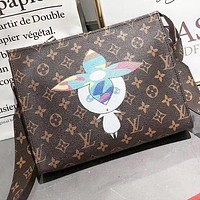 LV Louis Vuitton New fashion monogram print Leather shoulder bag  crossbody bag