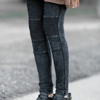 Moto Knee Leggings