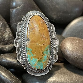 Royston Turquoise Genuine Oval Ring