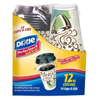 Dixie® PerfecTouch® Grab 'N Go® Cups & Lids - 14... : Target