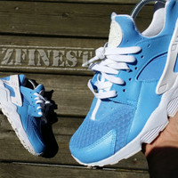 Custom blue Nike Huaraches