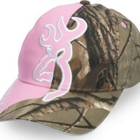 Browning Women's Realtree Camouflage And Buckmark Cap Pink One Size