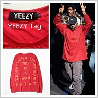 2017 New Arrival T shirt Men Gains YEEZY Clothes I feel like Pablo Kanye West Season 3