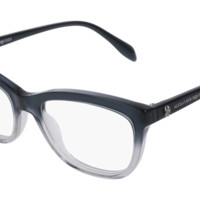Alexander McQueen - AM0161O Grey Eyeglasses / Demo Lenses