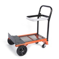 80kg Heavy Duty Folding Hand Truck Bag Sack Trolley Barrow Cart Garden Platform Trolley Home Garden Tool