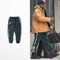 Plus Size 2017 New Pablo Kanye Season4 Red Black Casual Pants West Coast For Men\Women Pants Calabasas Print Season 4