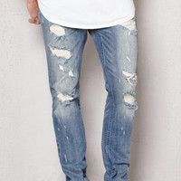 PacSun Skinny Ripped Medium Wash Stretch Jeans at PacSun.com