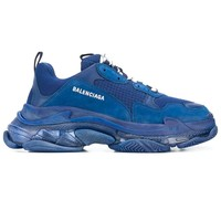 Monochrome Blue Triple S Sneakers by Balenciaga