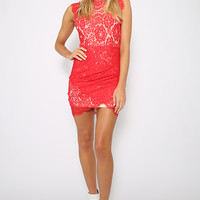 Her Domain Dress - Red