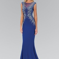 Sparkly long royal blue dress  gls 1306