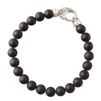 Beaded Onyx Bracelet, 8mm - Stephen Webster