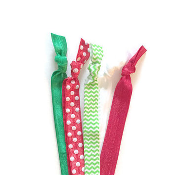Christmas Headbands - Girls Hairbands in Red & Green - Like Emi Jay Hairbands - Christmas Hair Accessories - Secret Santa - Stocking Stuffer