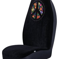 Peace Universal Bucket Seat Cover-Black