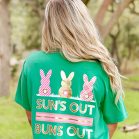 Jadelynn Brooke: Sun's Out Bun's Out V-neck Tee {Spring Green}