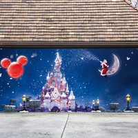 Christmas Garage Door Cover Santa Banners 3d Holiday Outside Decorations Outdoor Decor for Garage Door G67