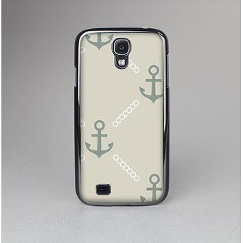 The Tan Vintage Solid Color Anchor Linked Skin-Sert Case for the Samsung Galaxy S4