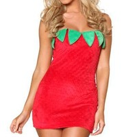 Sexy Strawberry Costume lzq, Berry Color S M, very cheap sexy lingerie, cheao sexy baby doll - Fruit Costumes HotSaleWear.Com