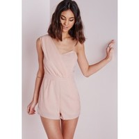 Tibieta One Shoulder Romper - Rompers - Missguided
